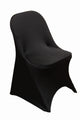 Folding Chair Cover - Black Stretch Spandex