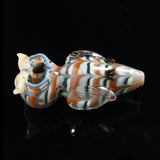 Glassheads Colorful Owl Animal Spoon with Double Bowls
