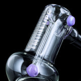 "UPC 7.5"" Hammer Style Bubbler with Platinum Decals"