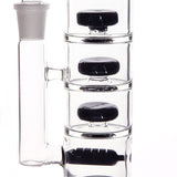 """Triple Stack"" Inline triple showerhead waterpipe in white or black"