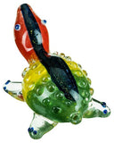 Dichro Striped Rasta Turtle Pipe