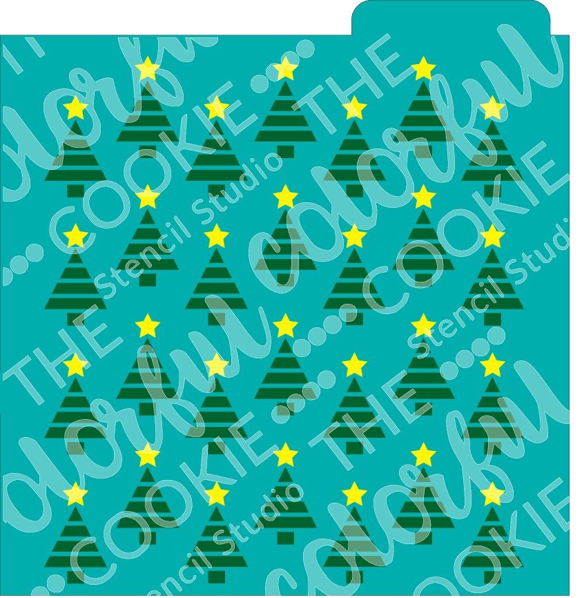 Christmas Tree Background 2 Part Cookie Stencil