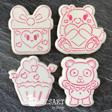 Bear-y Present PYO/Outline Stencil and Cookie Cutter