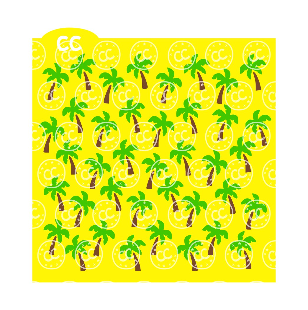 palm tree cookie stencil download