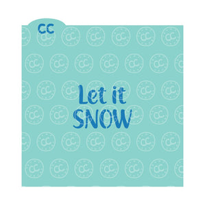 Let It Snow and Snowflake Background 2 Part Set