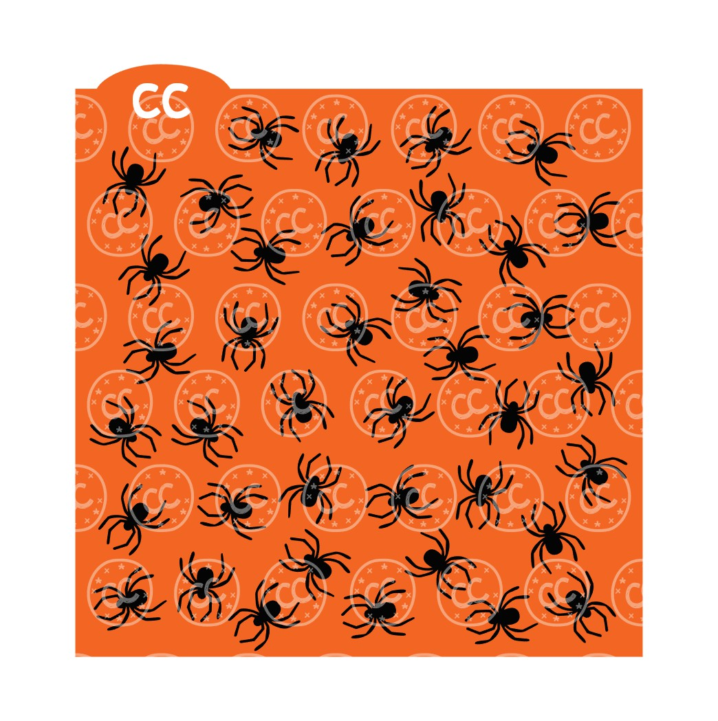 spider background cookie stencil svg