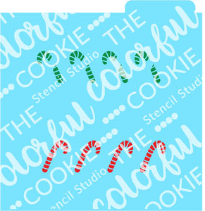 Candy Cane for Cookie Sticks Cookie Stencil