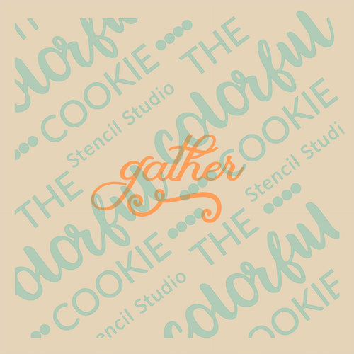 Colorful Cookie Thanksgiving Stencil Unbridged