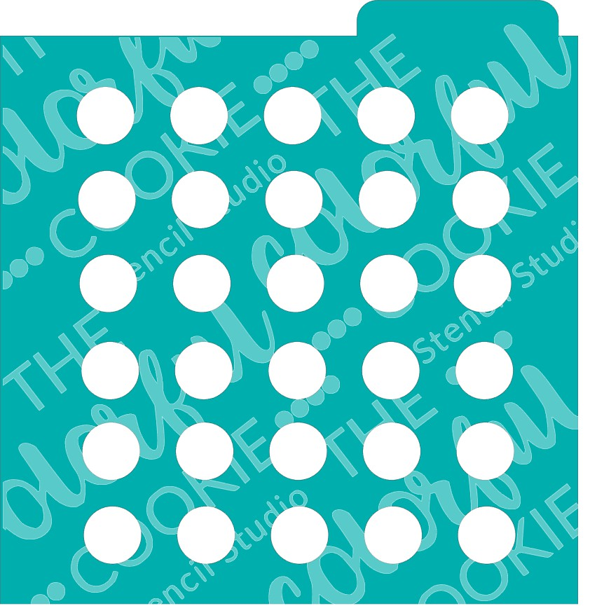 Large polka dots cookie stencil