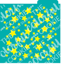 Stars Background Cookie Stencil