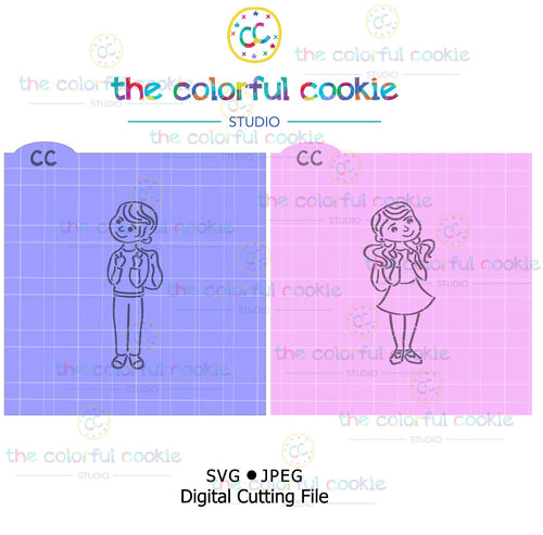 Back to School cookie stencil