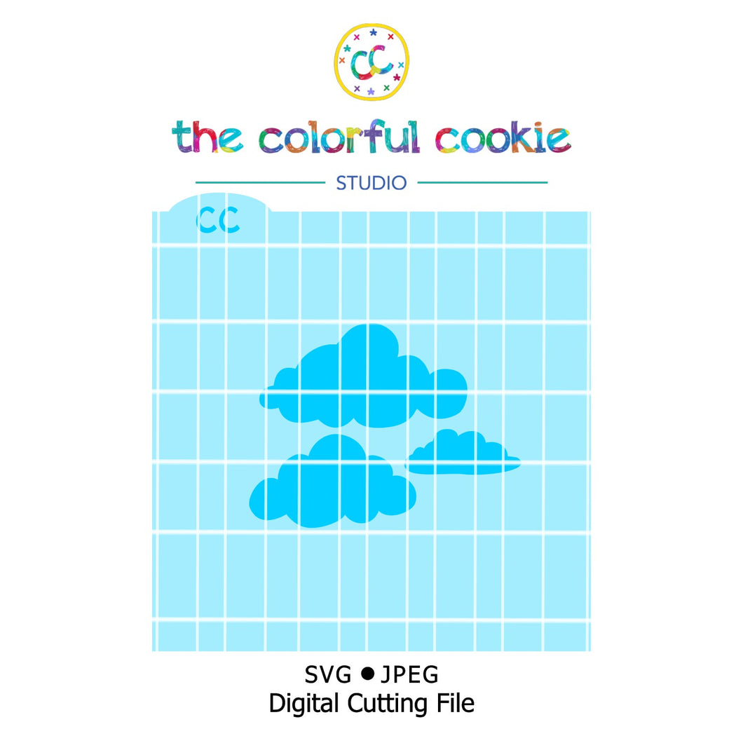 cloud digital cookie stencil svg