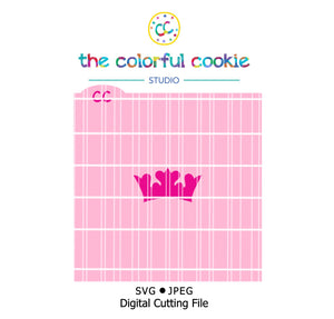 crown cookie stencil svg