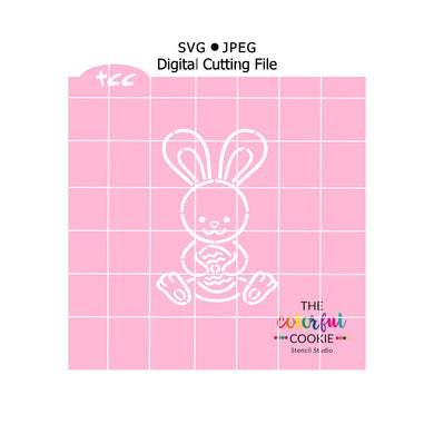 easter bunny cookie stencil download svg