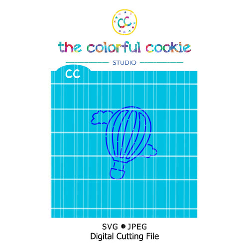 hot air balloon pyo cookie stencil