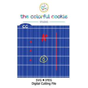 notebook paper cookie stencil svg