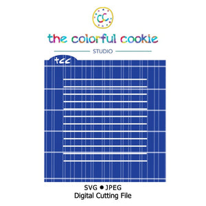 notebook paper cookie stencil