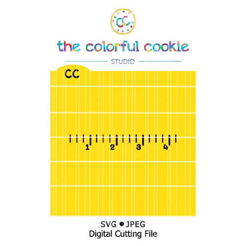ruler cookie stencil svg