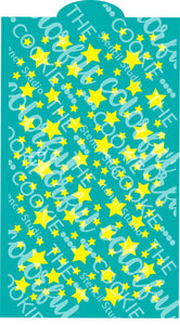 Stars Background Large Cookie Stencil