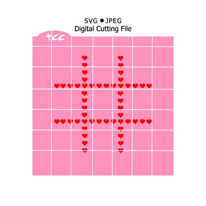 Valentine's Day Heart Tic Tac Toe