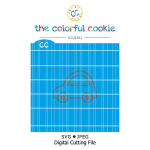 car cookie stencil