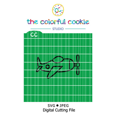 plane pyo digital cookie stencil