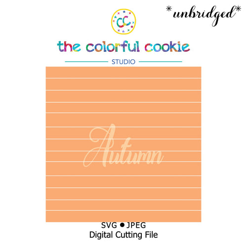 autumn cookie stencil download svg