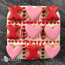 Valentine's Day Heart Tic Tac Toe Stencil and Cookie Cutter Set