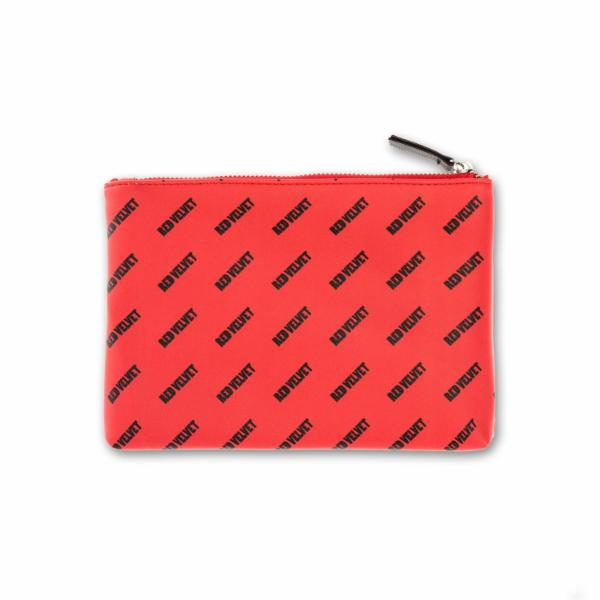 "Red Velvet ""Bad Boy"" Clutch with Make Up Bag & Keychain"