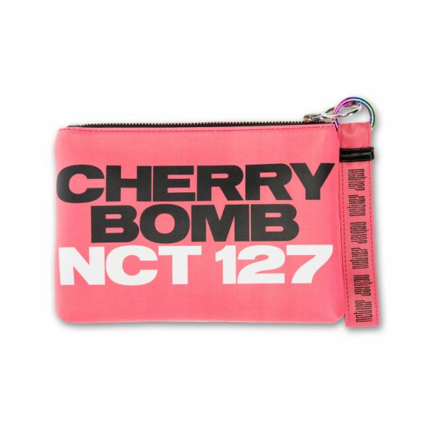 "NCT 127 ""Cherry Bomb"" Clutch with Make Up Bag & Keychain"