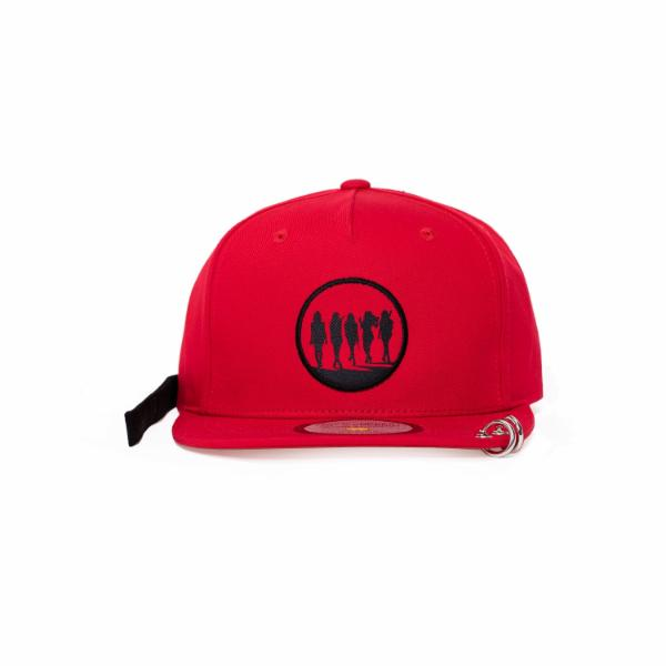 Red Velvet SM Official Bad Boy Snapback Hat with Long Strap and Rings