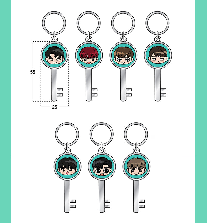 갓세븐 GOT7 4TH FANMEETING OFFICIAL MERCHANDISE - GOTOON KEYRING