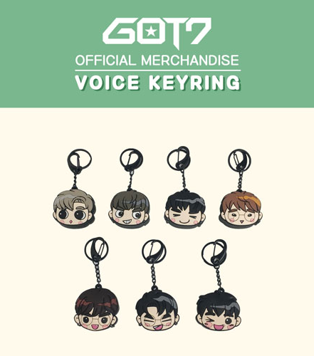 갓세븐Got7 official merchandise Voice Key Ring