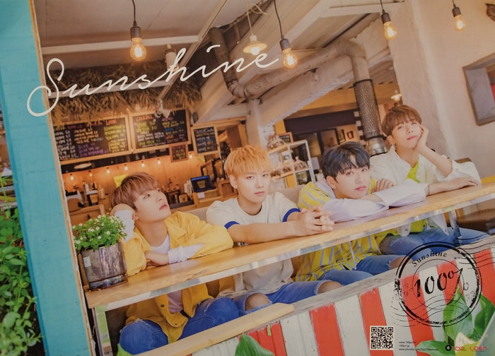 100% 5th Mini Album Sunshine Official Poster - Photo Concept 1