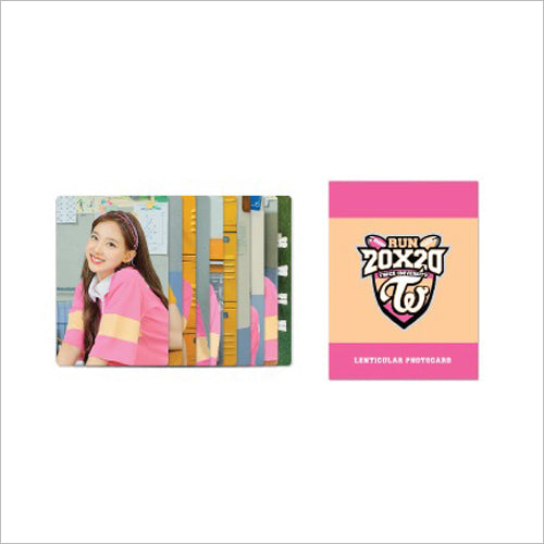 TWICE RUN 20X20 Goods - LENTICULAR PHOTO CARD SET