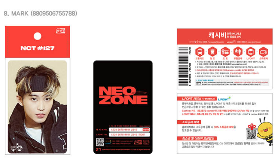 NCT 127 Neo Zone Traffic Cards