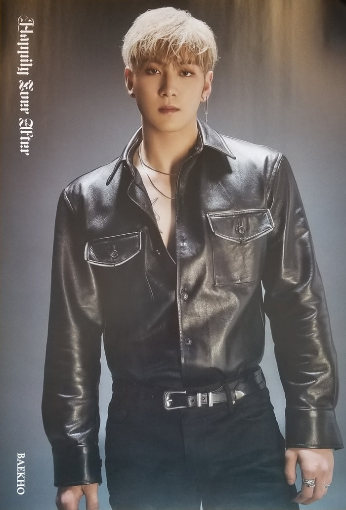 NU'EST 6TH MINI ALBUM - HAPPILY EVER AFTER LIMITED EDITION MEMBER POSTER - BAEKHO