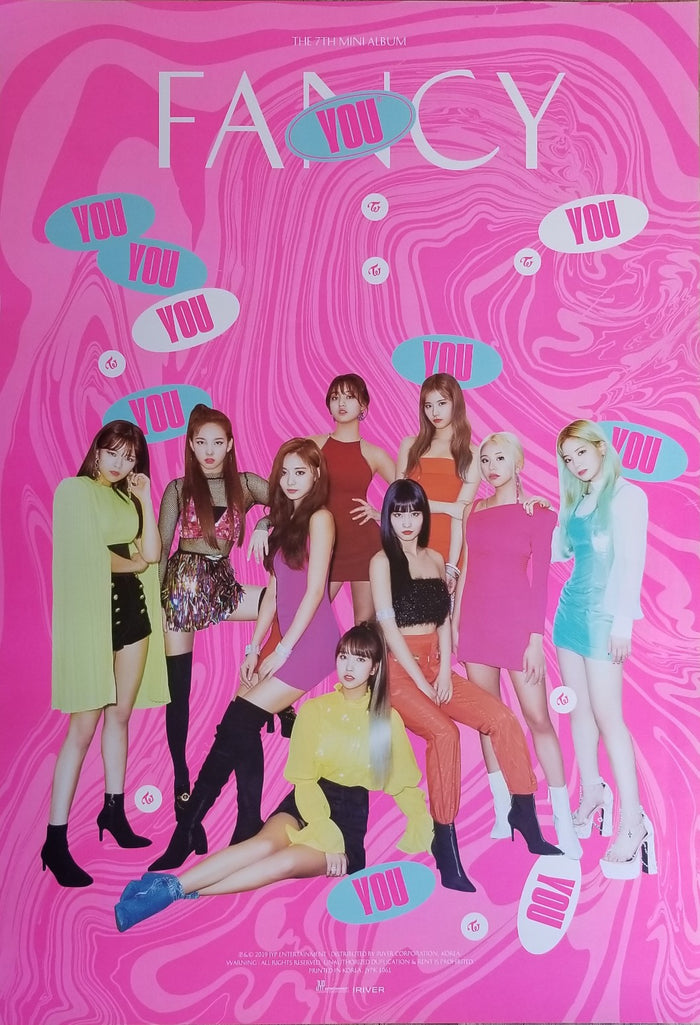 TWICE 7TH MINI ALBUM FANCY YOU OFFICIAL POSTER - PHOTO CONCEPT 1