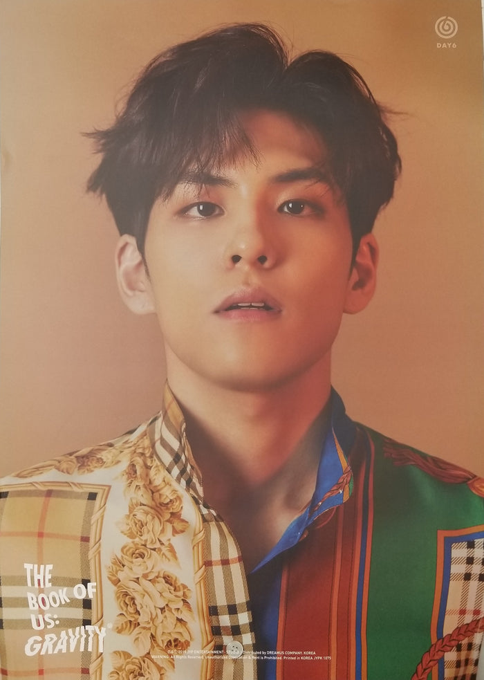 DAY6 5th Mini Album - The Book of Us : Gravity Limited Edition Member Poster - Wonpil