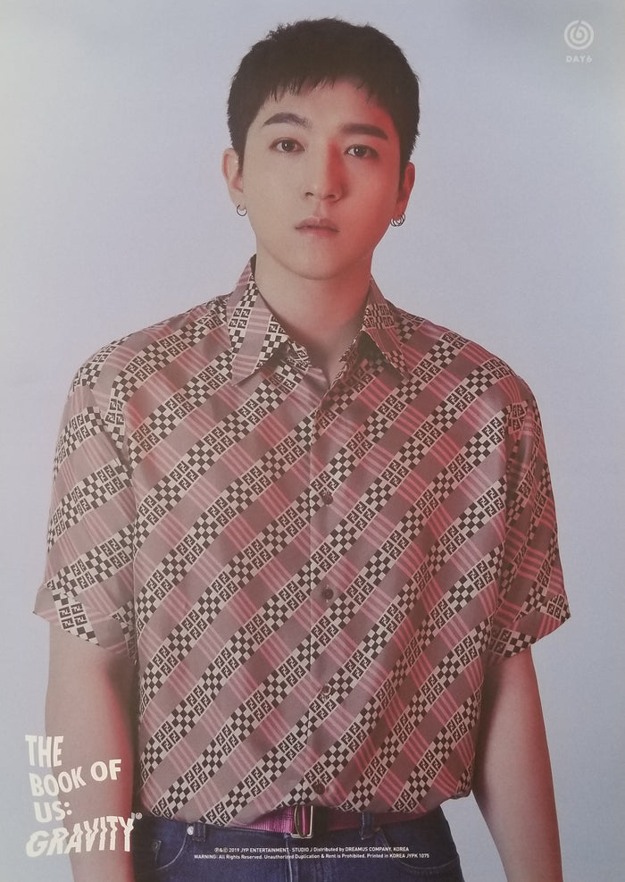 DAY6 5th Mini Album - The Book of Us : Gravity Limited Edition Member Poster - Sungjin