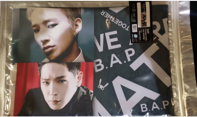 B.A.P 비에이피 SLOGAN TOWEL(MATRIX)