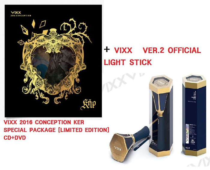 빅스  VIXX 2016 CONCEPTION KER SPECIAL PACKAGE [LIMITED EDITION]+VIXX  VER.2 OFFICIAL LIGHT STICK