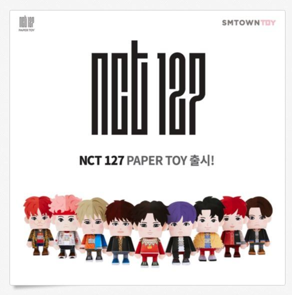 엔시티  Nct 127 2nd Mini Album Limitless Official Paper Toy