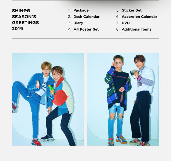 [LIMITED STOCK] SHINee 2019 Season's Greetings