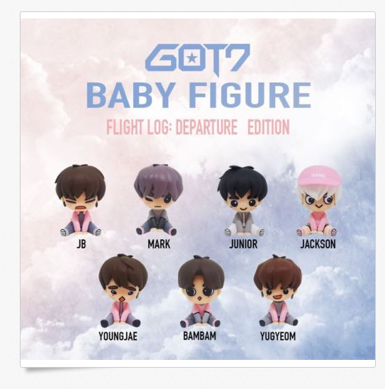 갓세븐 GOT7 Flight Log Departure 1st Concert Baby Figure