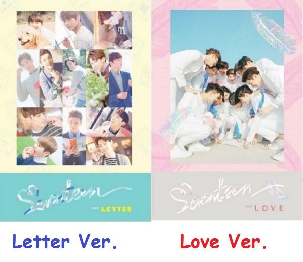 세븐틴 SEVENTEEN 1ST ALBUM [FIRST `LOVE&LETTER']