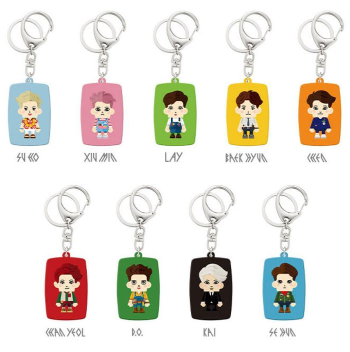 엑소 EXO CHARACTER KEY RING (9 KINDS)