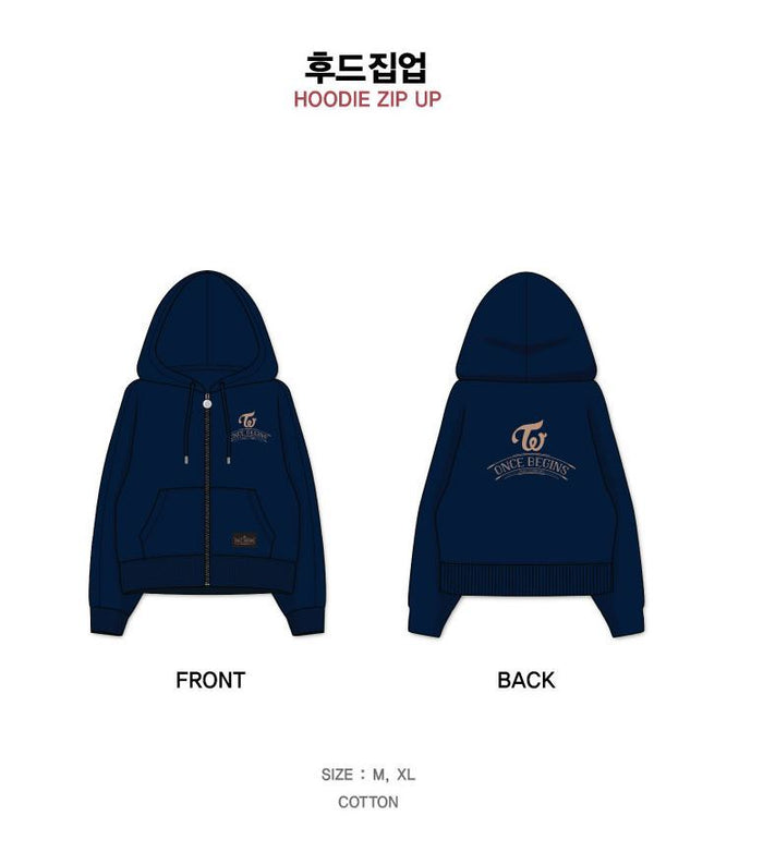 트와이스 TWICE FAN MEETING ONCE BEGINS OFFICIAL GOODS HOODIE HOOD ZIP-UP