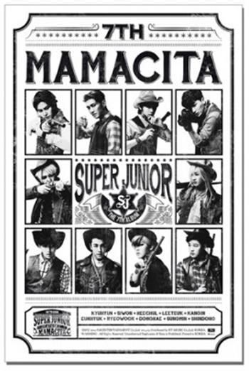 Super Junior Mamacita Version B Unfolded Poster