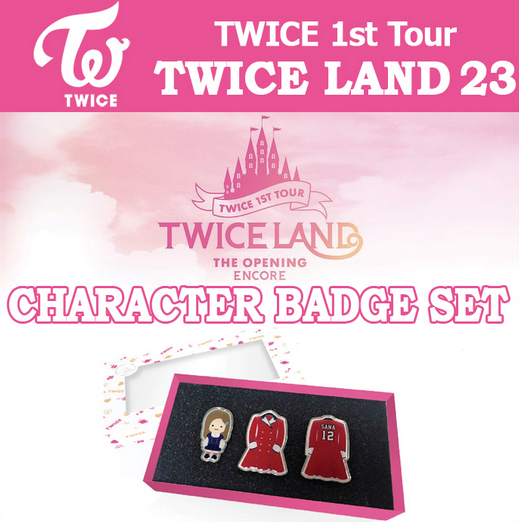 TWICELAND ENCORE OFFICIAL GOODS CHARACTER BADGE SET